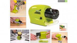 Sản phẩm rất dễ sử dụng, bạn chỉ cần bấm công tắc và đưa lưỡi dao kéo vào phần đá mài