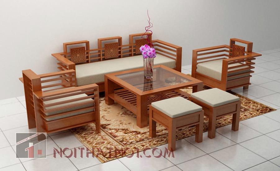 sofa gỗ đẹp cao cấp