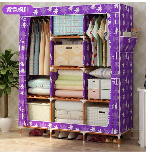 Tủ vải khung gỗ chắc chắn, bền đẹp, tiện dụng