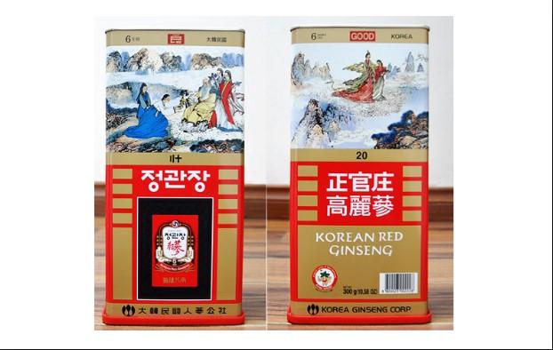 Hồng sâm Hàn Quốc củ khô hộp thiếc mang lại tác dụng lớn cho sức khỏe