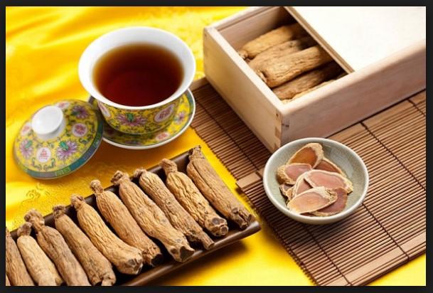Trà từ hồng sâm Hàn Quốc củ khô hộp thiếc rất tốt cho sức khỏe