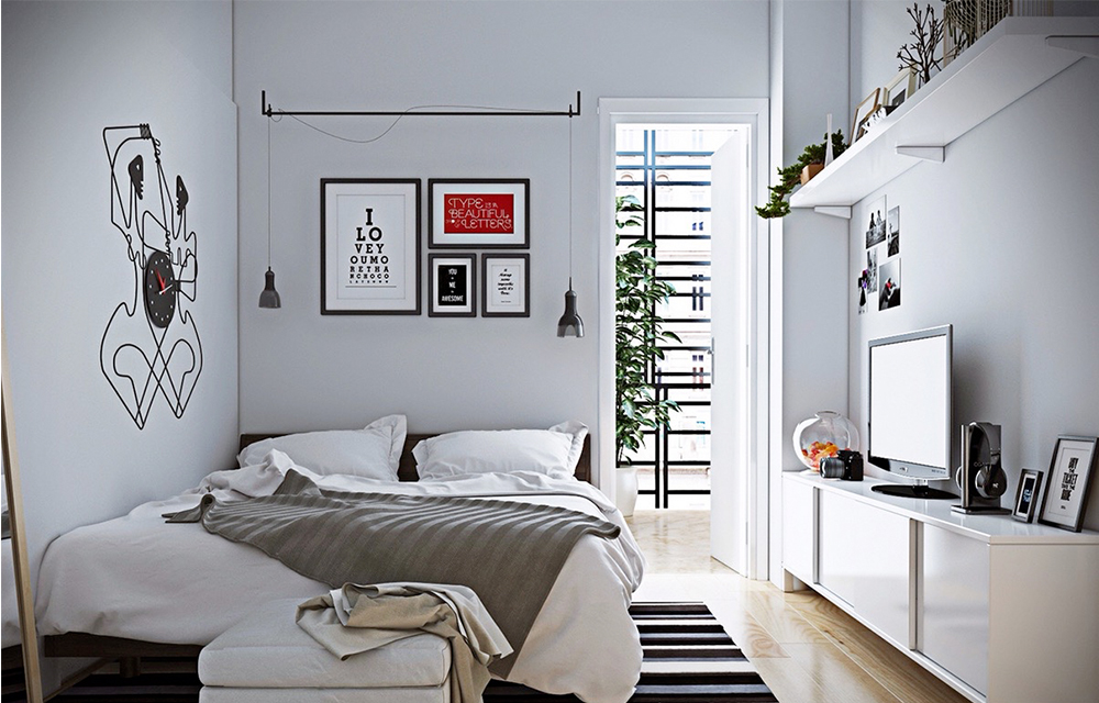 Bài trí phòng ngủ cho nhà nhỏ hẹp