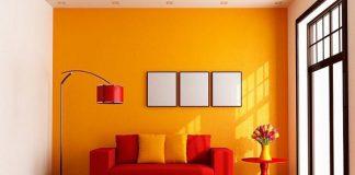 Màu sơn phòng khách dành cho người mệnh hỏa