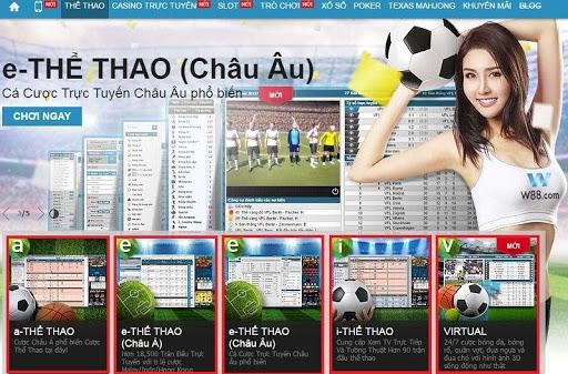 Tìm hiểu về sản phẩm E - Thể thao tại nhà cái W88